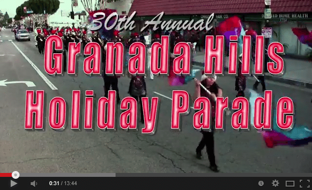 2013 Granada Hills Holiday Parade   YouTube